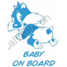 Adesivo bimbo a bordo Gattino On Board