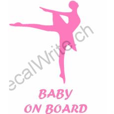 Adesivo bimbo a bordo Ballerina on Board