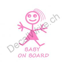 Adesivo bimbo a bordo Bimba stilizzata On Board