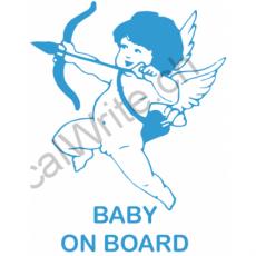 Adesivo bimbo a bordo Cupido on Board