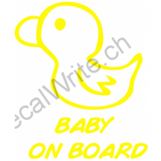 Adesivo bimbo a bordo Paperella on Board