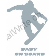 Adesivo bimbo a bordo Snowboarder on Board