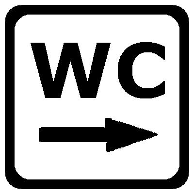 Bagno Wc Destra Adesivi Decalwrite